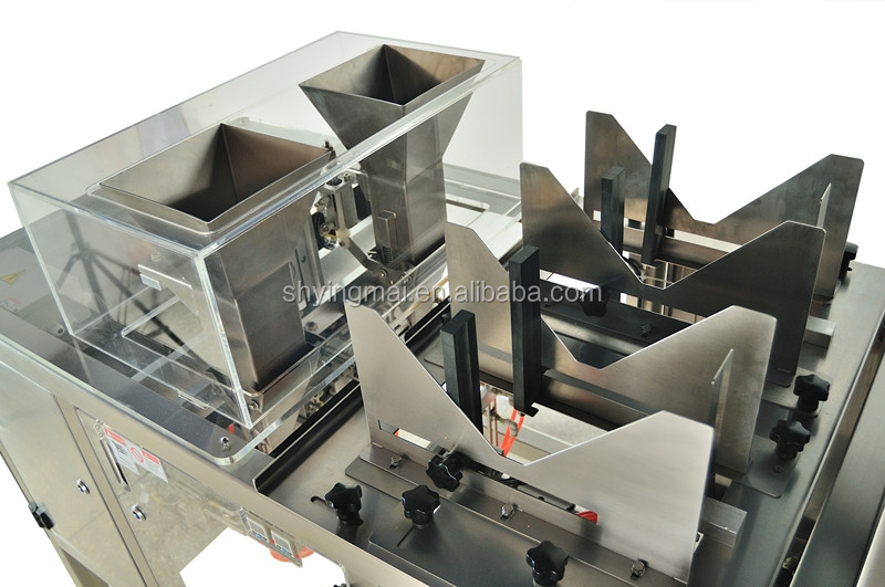 packaging machine for premade bags with zipper