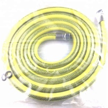 stainless steel braided yellow coated flexible hose