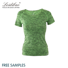 women custom breathable short sleeve workout t shirts with printing