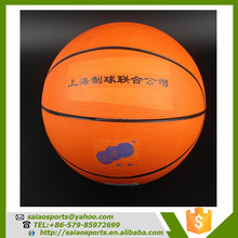 Gold supplier china balls basketball special standard rubber basketball