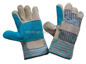 Brand MHR Custom winter thick woolen lining leather glove for men