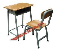 Wooden school furniture/Fixed school desk and chair