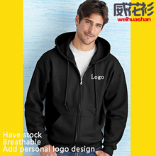 Zip hooded sweatshirt Free sample Have stock Free colors Free Size Comfortable Customized <strong>Logo</strong> 400 grams zip hooded sweatshirt