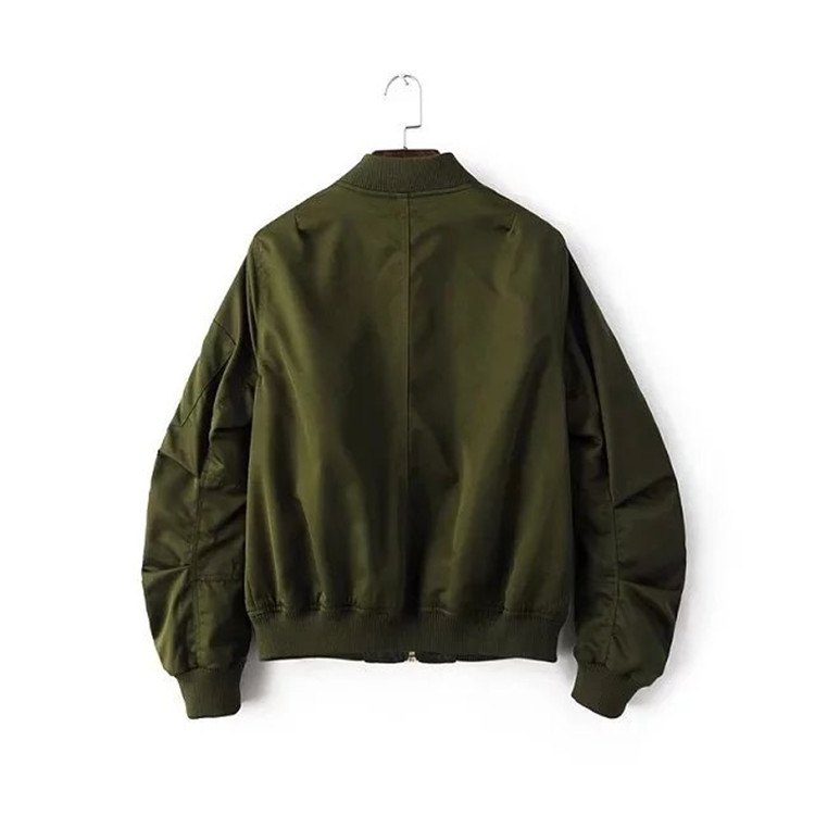 European BF style The pilot jacket 2017 latest women coat Army green color short coat Autumn