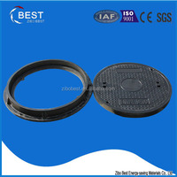 D400 round composite solid top manhole cover