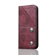 High quality PU leather case for iPhone 7 7 Plus, Credit card flip case for iPhone 6 6 Plus