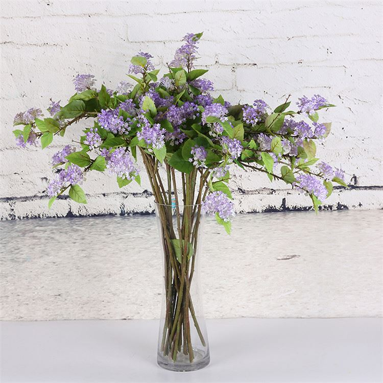 Top fashion excellent quality fake purple flower and grass plants
