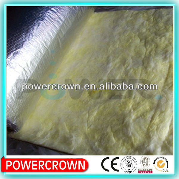 Aluminum Foil faced lowes fire proof insulation glass wool/rock wool