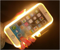 Selfie Led Flash Light Up Phone Case For Samsung S5 S6 S7 ,Mobile Phone Case Cover ,Phone Case For Iphone 6 6S Plus Case