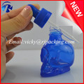 empty unique shaped blue unique skull shaped essential oil glass dropper bottles with pipette