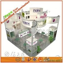 modular custom exhibition booth island booth display, design free and construction