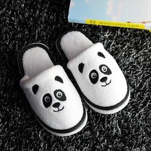 2017 Chinese Panda Cute Disposable Hotel Kids Slippers