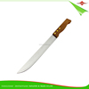 ZY-B1059D 10-inch reasonable price stainless steel kitchen knife with hard mixed wood handle