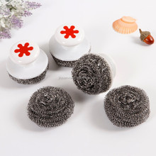 410 stainless steel scourer with plastic handle