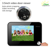 Support TF card 32GB 3.5inch recording peephole door viewer