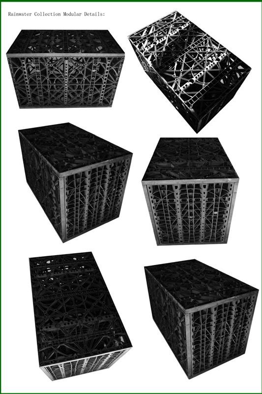 Polypropylene Drainage Cell : Drainage cell tank module stormwater drain water