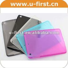for ipad mini case with S line TPU gel
