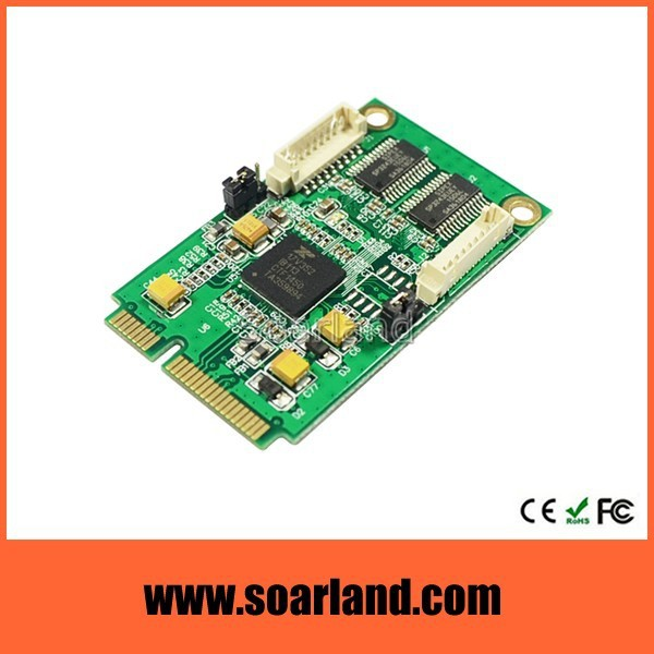 Advanced 2 ports serial mini pcie card