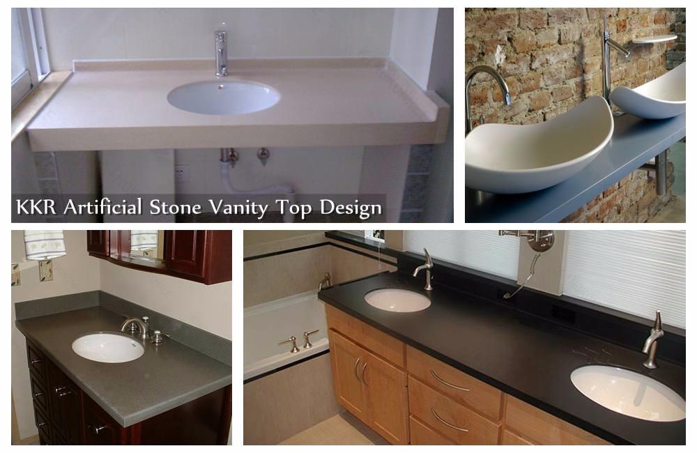 Vanity Top Shapes : Artificial marble l shaped bathroom vanity furniture bath