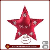 Customize factory price wholesale Christmas lovely star decoration party