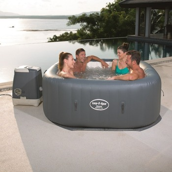 Bestway 54138 Hawaii AirJet 6-Person bathtub massager Portable Inflatable rectangle hot spa tub