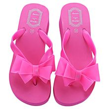 Woman Sandals Sapato Feminino Beach Flat Wedge Flip Flops Lady Slipper Sandalias Sweet Knotbow Flat Wedge Beach Sandals