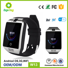 Fashion 2G 3G WIFI android fitness tracker gv10 q18 smart watch W8 watch phone