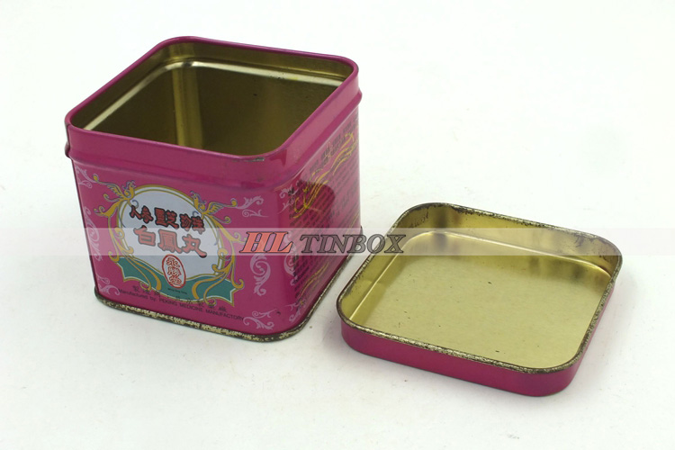 Mini Square Packaging Tin Can For Medicine Pills/Mints/Chocolate