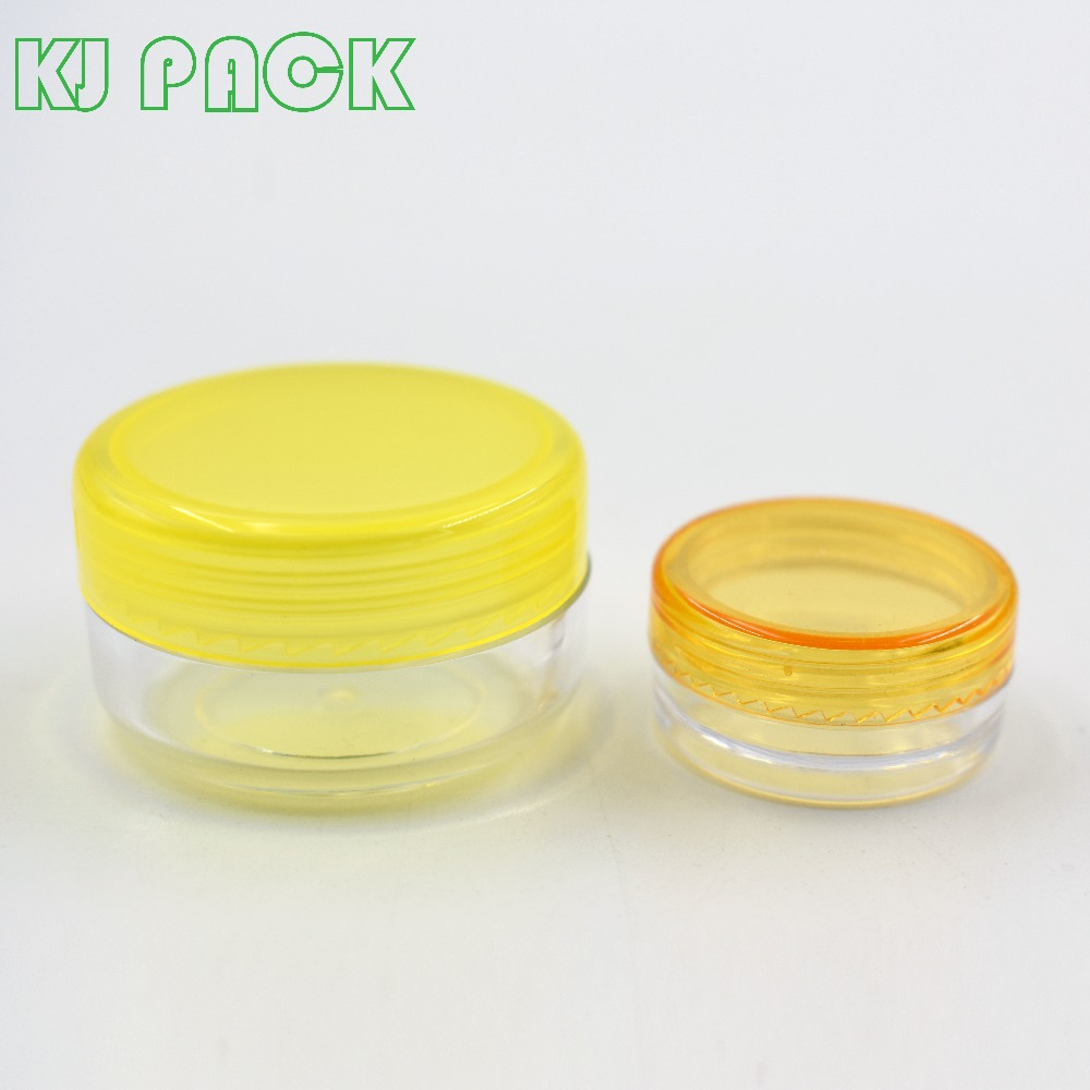 wholesale cheap round 3 ml PS plastic customized empty plastic jars for travel set