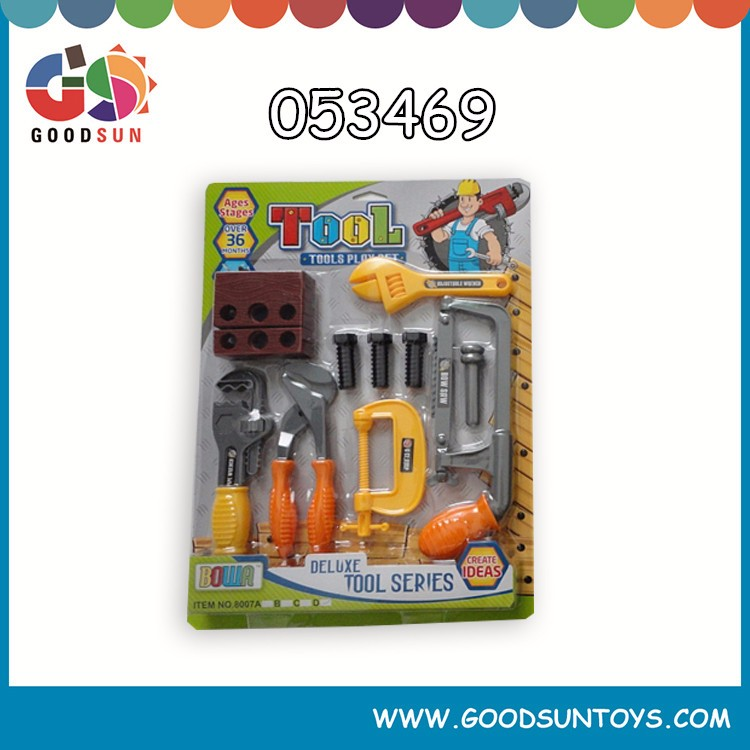 Play At Home 22 PCS Construction kid plastic opening tools toy