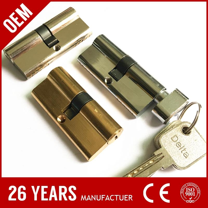 OEM/ODM copper satin nickel right angle window security lock latch with ODM