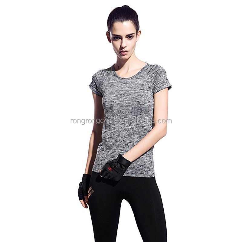 Short Sleeve Tops Gym T-Shirt Sportswear Women's Sport Running Tops Blouse