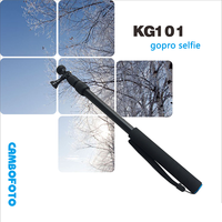 Wired selfie stick monopod with folded head