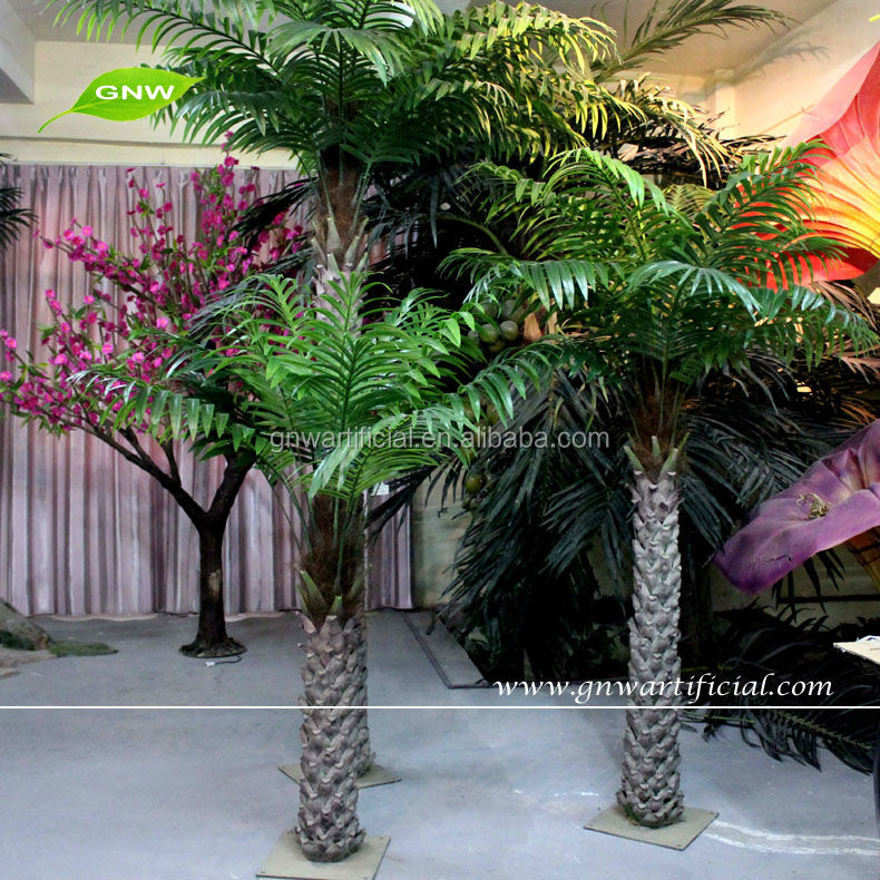 GNW APM021 Wedding Decorations Plastic Palm Trees for Sale Indoor Landscaping