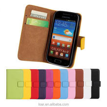 Phone cover leather wallet PU case for samsung galaxy ace 2 i8160 cases