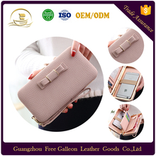 OEM custom high quality lady beibei slim phone <strong>wallet</strong> case handmade woman PU leather <strong>wallet</strong>