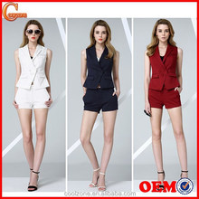 Women summer two pieces business suits office lady casual uniform