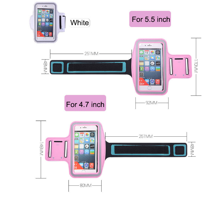 China manufacturer best selling neoprene custom sports running armband phone case