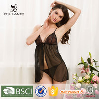 Wholesale Finess New Arrival Romanic black transparent sexy hot japanese girl lingerie