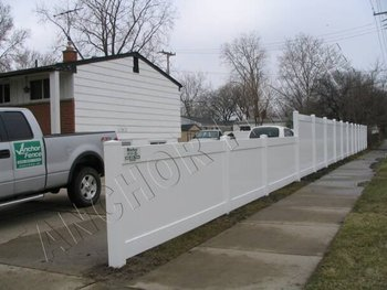 Veka Blue Vinyl Privacy Fence by Anchor Fence Michigan
