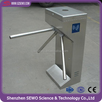Entrance Security Gate Semi auto SS 304 Turnstile access with QR reader