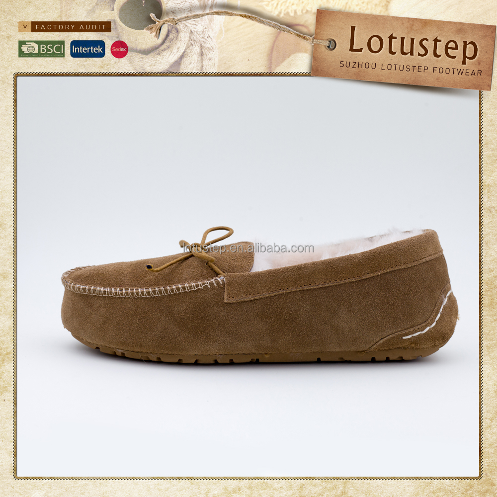 Wholesale Mens Sheepskin Men Moccasin