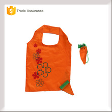 wholesale 190T 210d nylon polyester carrot folded nonwoven shopping bag