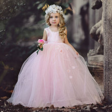 1 Year Birthday Dresses Wedding Gowns For Flower Girls Pink Baby Christening Dress