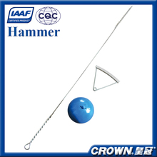 IAAF certification track and field sports equipment stainless steel, steel alloy, carbon steel hammer throw