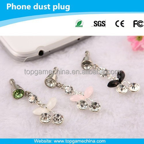 Bling Anti Dust Proof Ear Cap Plug Charm Stopper For iPhone 6