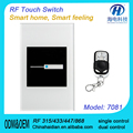 1 Gang 2 way touch wall switches for usa