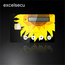 Full Color Printing wholesale cheap price display lcd plastic pvc visa card