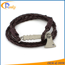Cheap giveaways braided bracelet hand chain for men