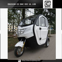 BRI-S00 2 seat mobility scooter disabled scooter electric car enclosed 60v 20ah 1000w electric handicapped scooter for elderly
